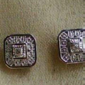 Woman's Natl Diamond Sterling Silver Post Earrings